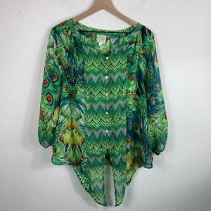 Anthropologie Fig and Flower Boho Pheasant Blouse